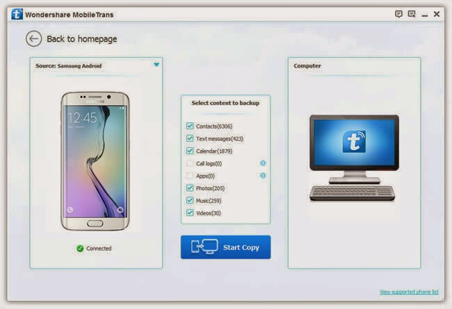how to connect phone to computer samsung galaxy 5