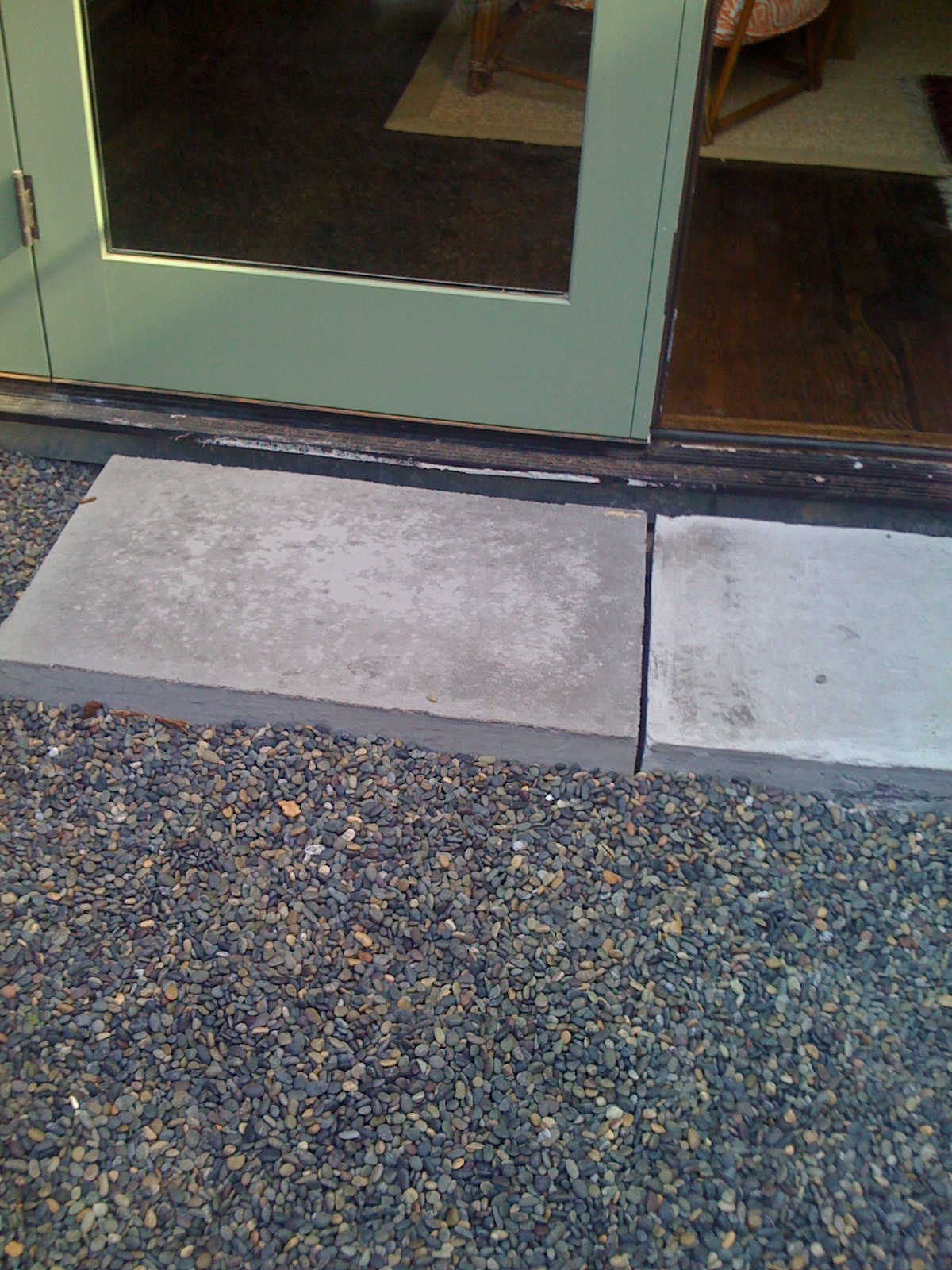 San Francisco building code requires that the threshold of an egress be 6 inches above grade. Whatu0027s all that fancy talk mean? Outside doors need to be well ... & The Shingled House: Concrete Door Stoops pezcame.com