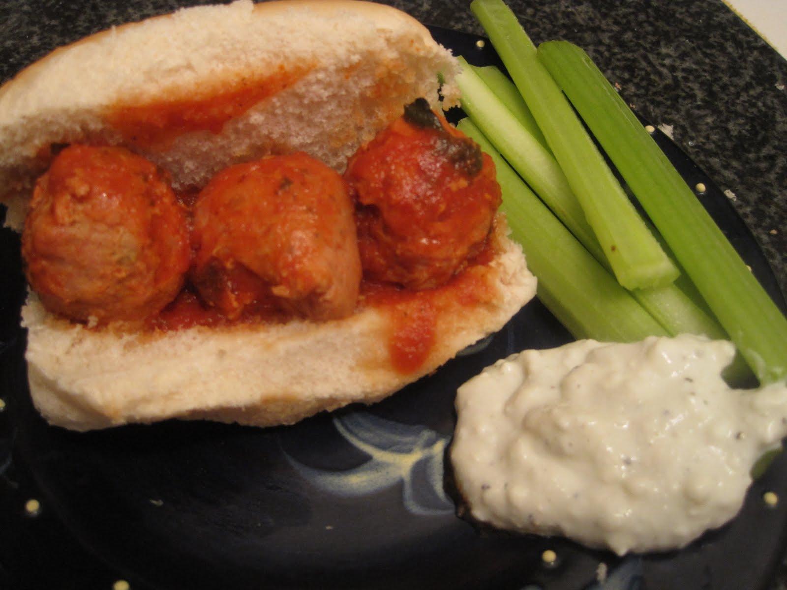 ... Street Kitchen: Buffalo Turkey Meatball and Chicken Sausage Sandwiches