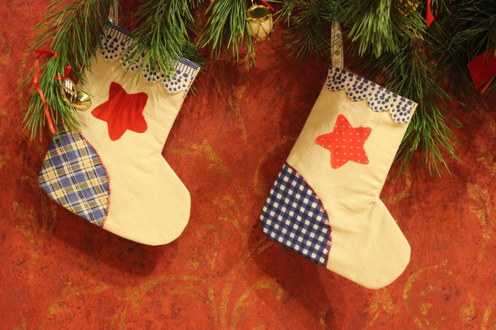 Новогодние поделки носок своими руками