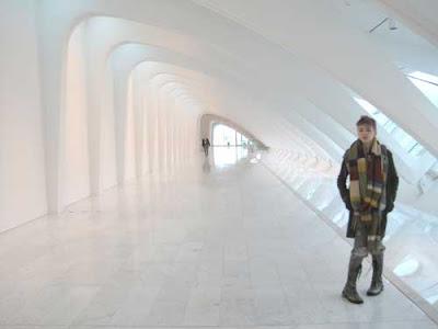 White ovoid hallway