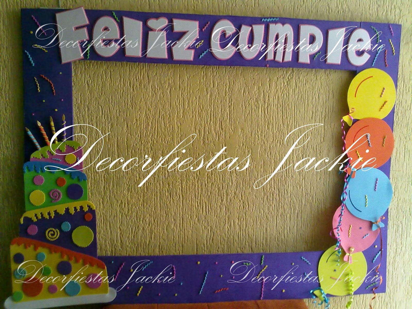 Decorfiestas jackie marcos personalizados para fiestas - Fiestas de cumpleanos originales para adultos ...