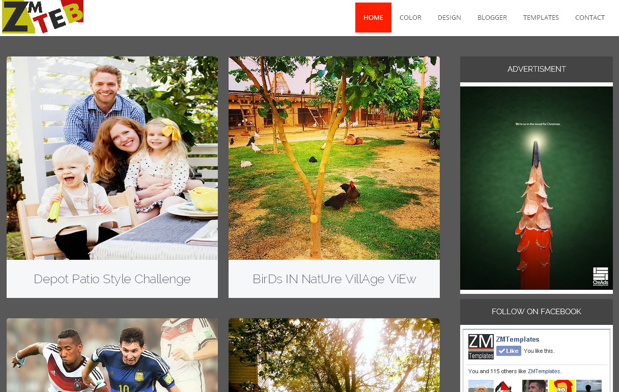 ZM Tab Blogger Template