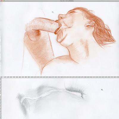 dessin pornographique cumshot