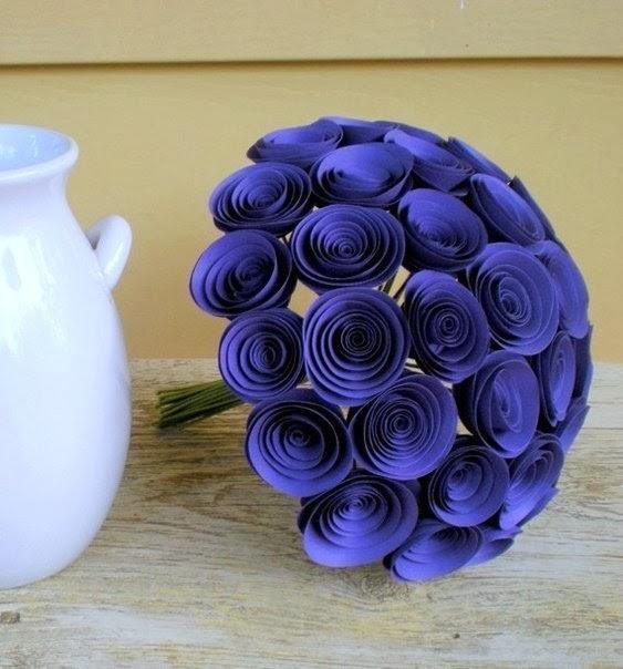 Поделки из цветной бумаги  розы