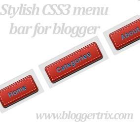 CSS3+Stylish+menu