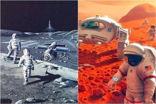 Di Masa Depan, Manusia Akan Kolonisasi Bulan dan Mars?