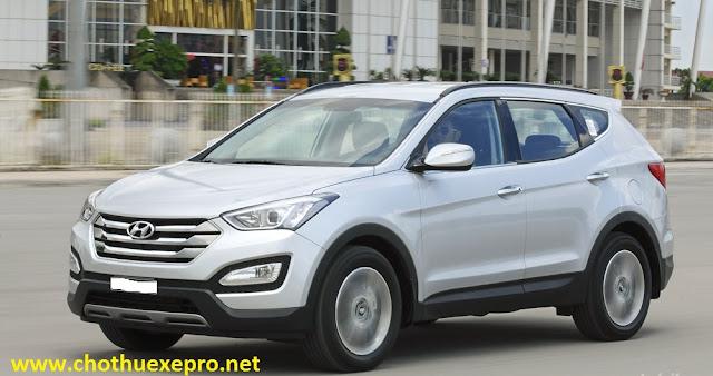 Cho thuê xe 7 chỗ Hyundai Santafe tại Hà Nội