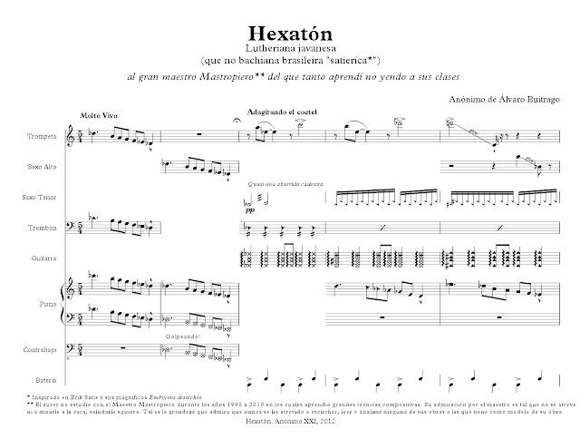 MuseScore Notación contemporánea Álvaro Buitrago