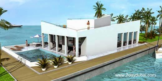 Casa flotante prefabricada para Dubai