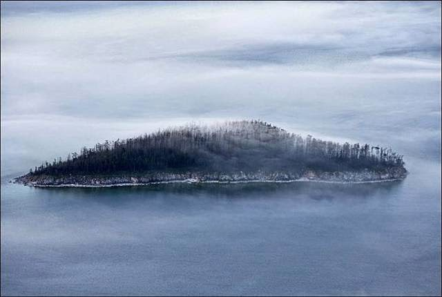 Baikal, one of the islands of the group of islands Ushkaniye