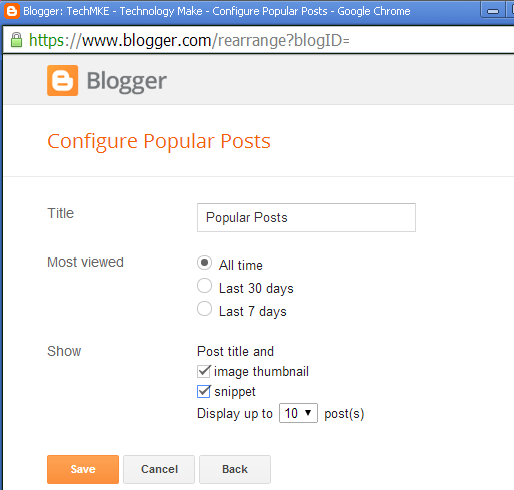addition of popular post in footer