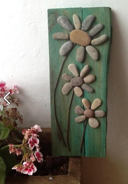 Como usar piedras para decorar portal de manualidades - Como decorar jardines con piedras ...