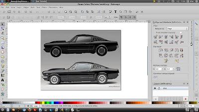 gambar preview desain vektor untuk tracing mobil ford mustang
