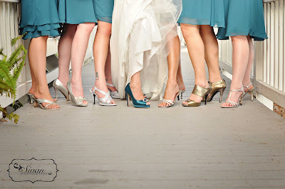 bridesmaids wedding shoes