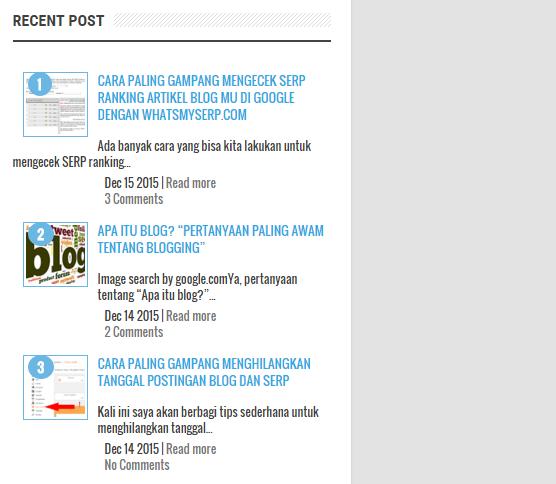 Widget untuk Blog yang Wajib di Pasang pada Sidebar sebagai Navigasi