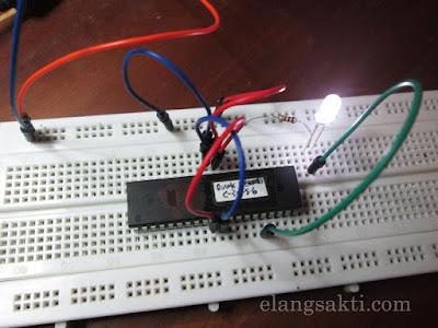rangkaian Sistem minimum untuk atmega16a