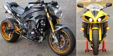 Yamaha R1 Bermesin Turbo (kiri)