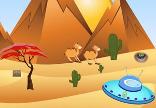 EscapeFan Desert Pyramids: Alien Escape