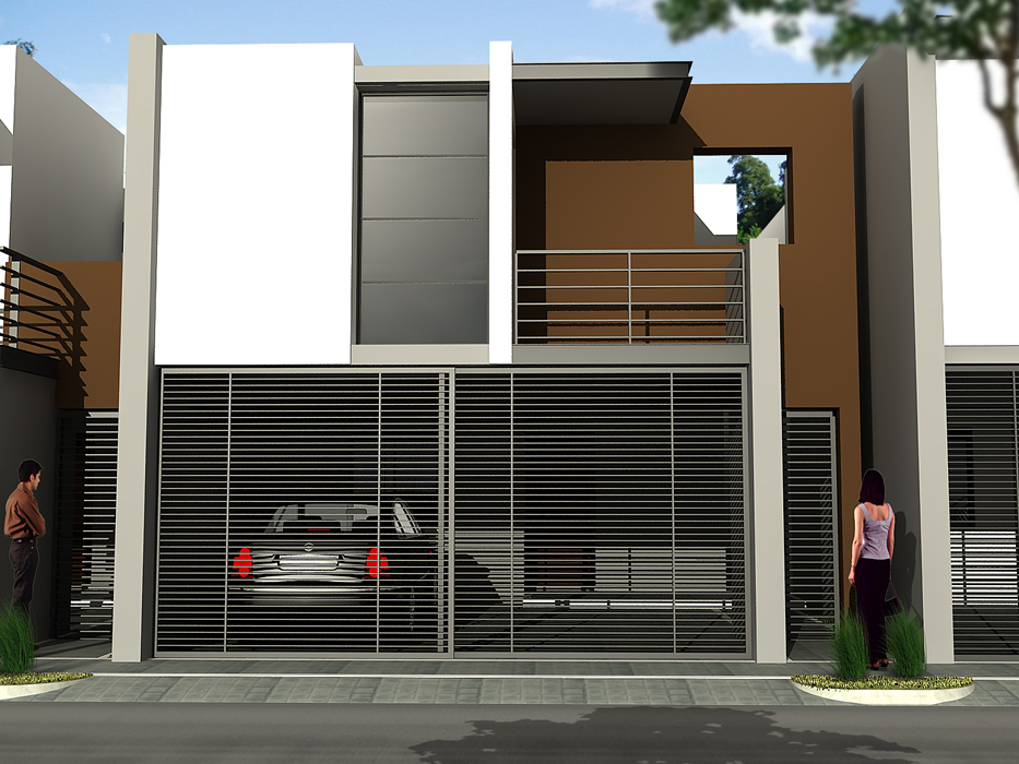 Fachadas de casas modernas fachada contempor nea simple for Fachadas duplex minimalistas