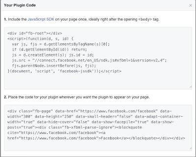Cara Menambahkan Like Box Fans Page Facebook di Blogger, error saat membuat widget facebook