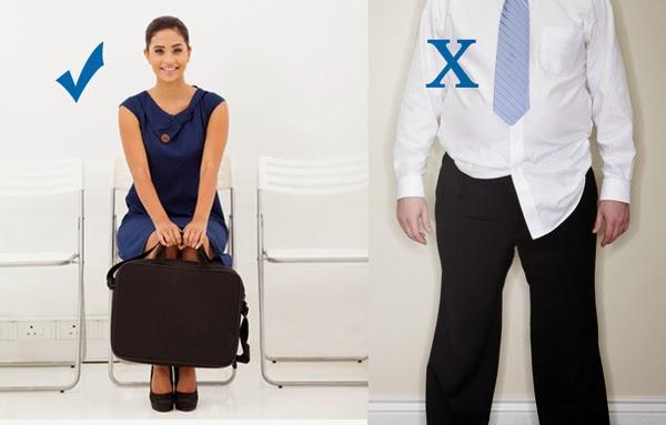 Roupas para entrevista de emprego. O que vestir? O que não vestir
