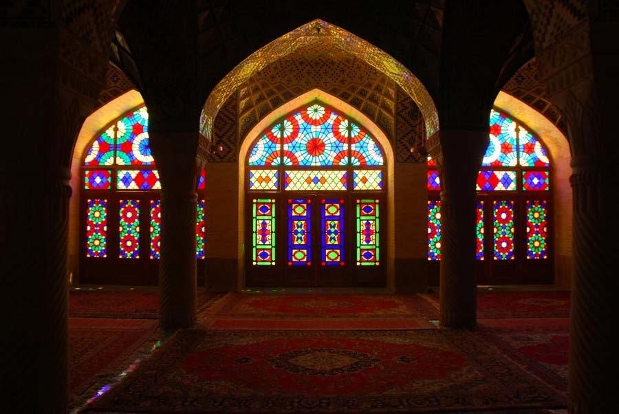 Mezquita Nasir al-Mulk, Mezquita Rosa, Shiraz, Irán