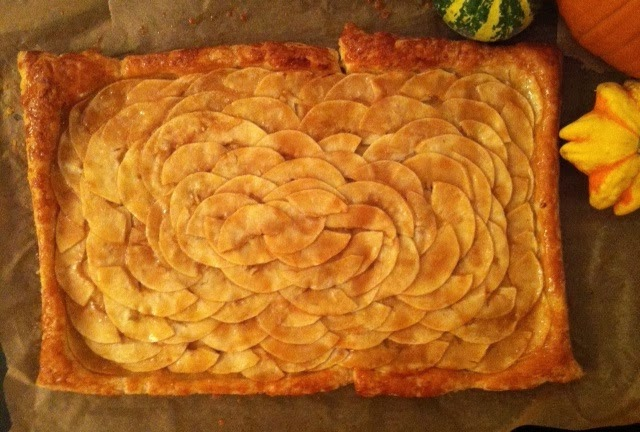 ... Day 4: Apple Mosaic Tart with Salted Caramel (from SmittenKitchen.com