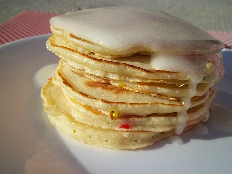 ... of a Harried Homemaker: Cake Batter Pancakes: Your Recipe, My Kitchen