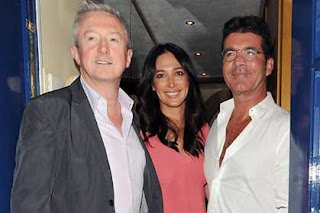 Louis Walsh, Lauren Silverman and Simon Cowell in London last week.