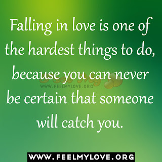 Falling in love is one of the hardest things to do
