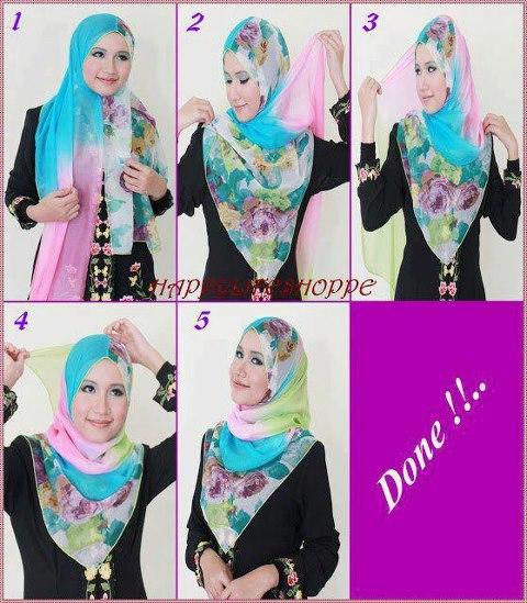cara+memakai+jilbab+modern+untuk+wajah+bulat Cara Memakai Jilbab Modern Untuk Wajah Bulat