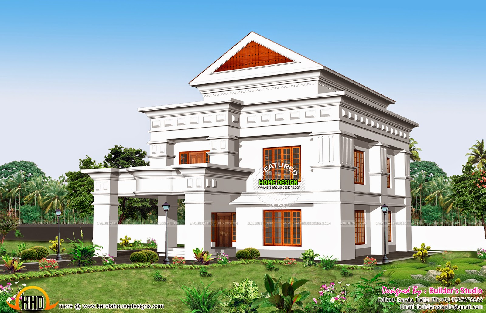 Separate garage house plan keralahousedesigns for Separate garage