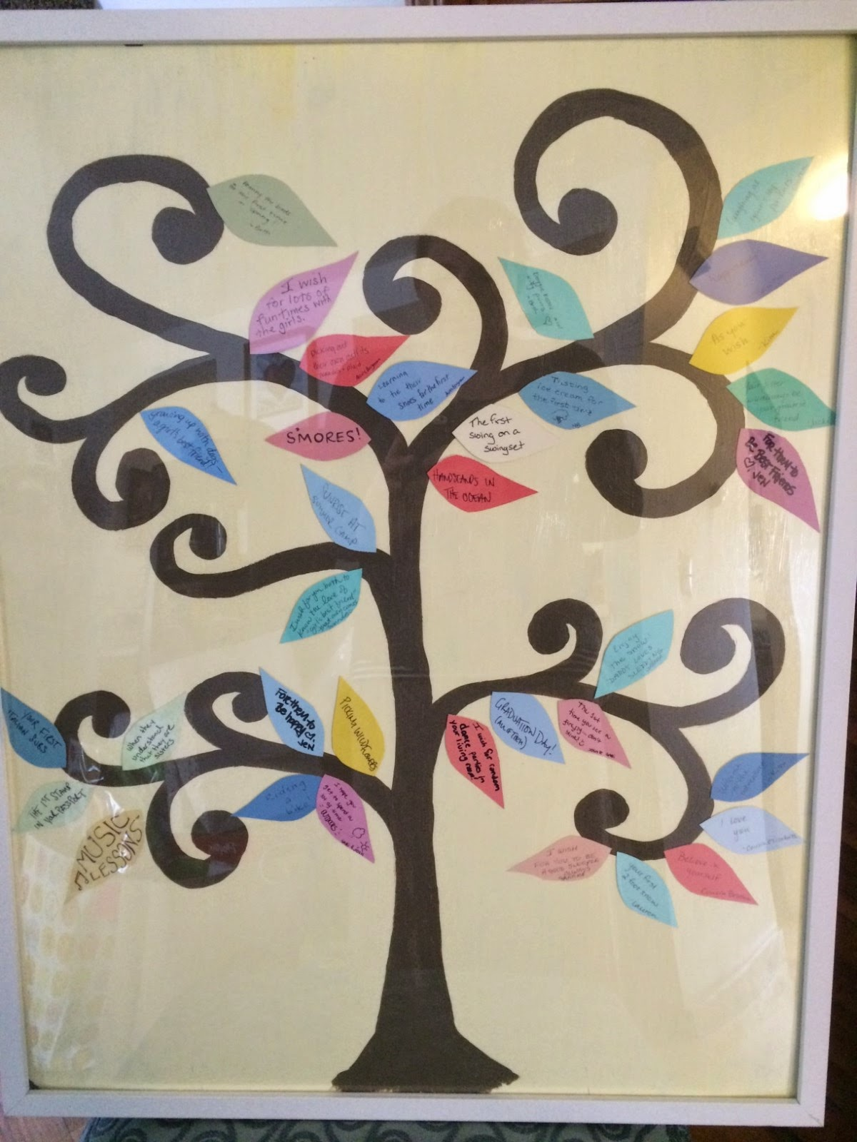 """Much Ado About Somethin Baby Shower Activity Make a """"Wish Tree"""""""