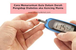cara menurunkan gula dalam darah