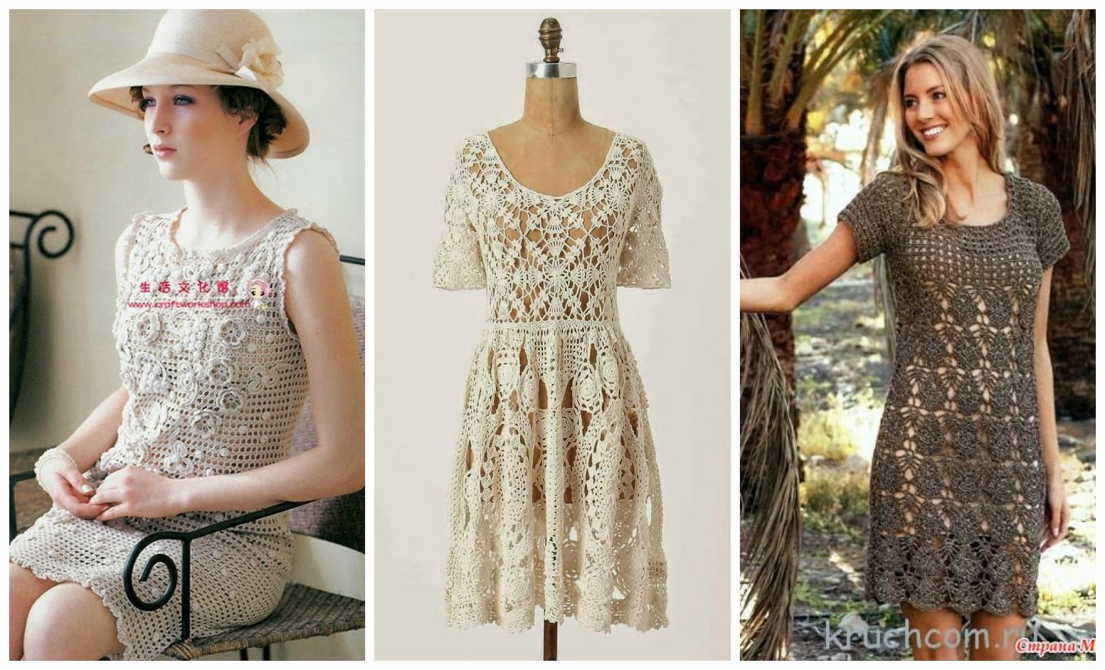 Crochet Stitches For Dresses : dress 1 dress 2 dress 3