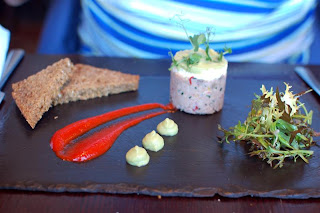 Stitch and Bear - Castletownbere crab & avocado starter at the Box Tree