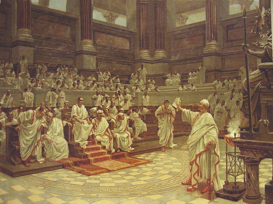 Blog del ies laguna de toll n el senado romano durante la for Votazioni parlamento