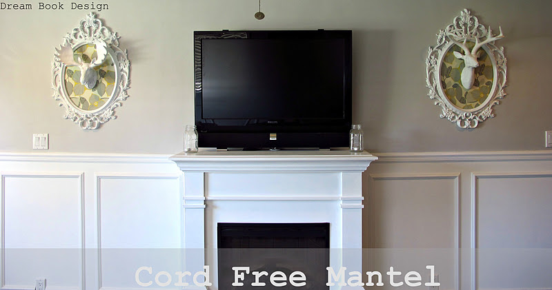 how to get a cord free mantle: hiding your cable box