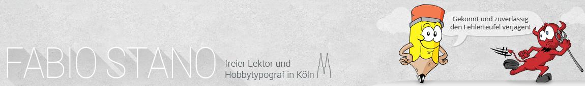 Fabio Stano – Freier Lektor in Köln