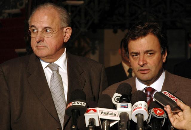 Nelson Jobim e Aécio Neves