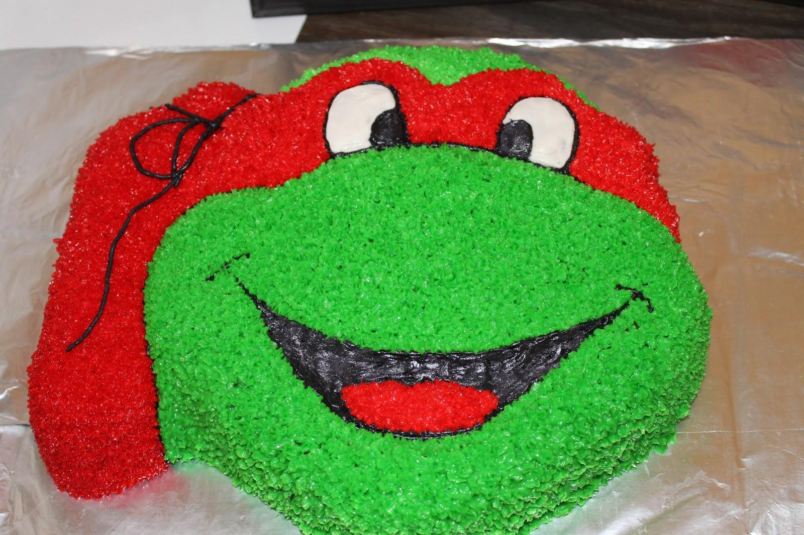 Red Ninja Turtle Cake