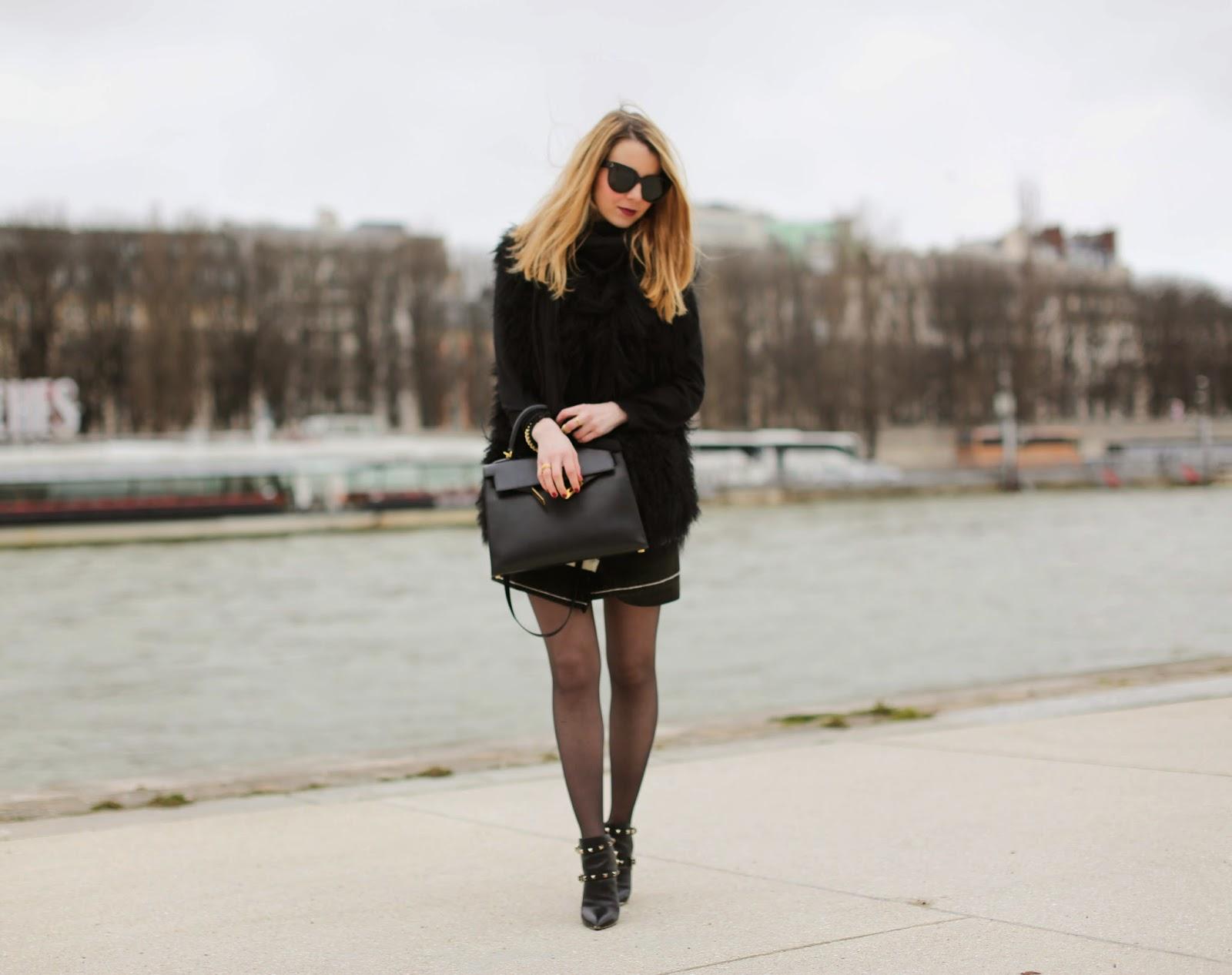isabel marant, fur, zadig et voltaire, valentino, kelly, hermès, paris, streetstyle, fashion blogger