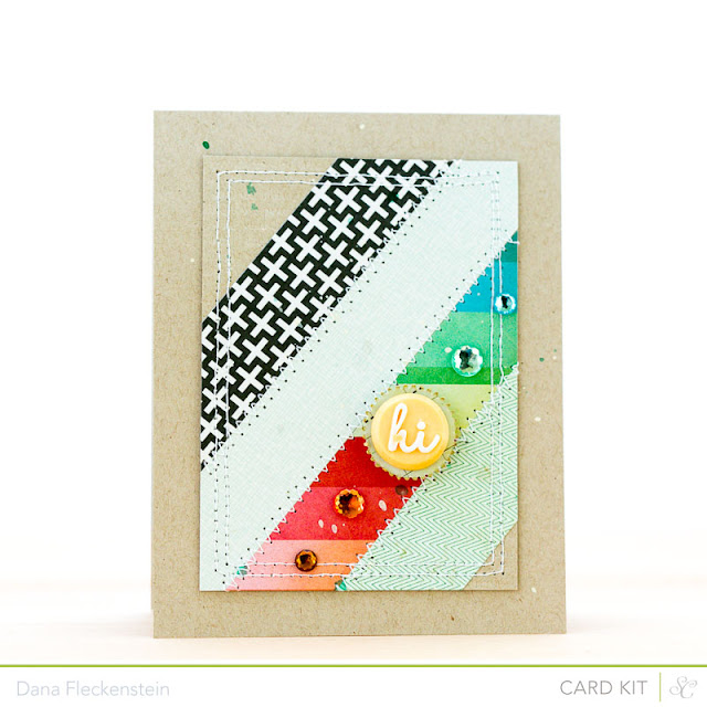 "Handmade ""Hi"" card by pixnglue using Studio Calico's Roundabout kits"