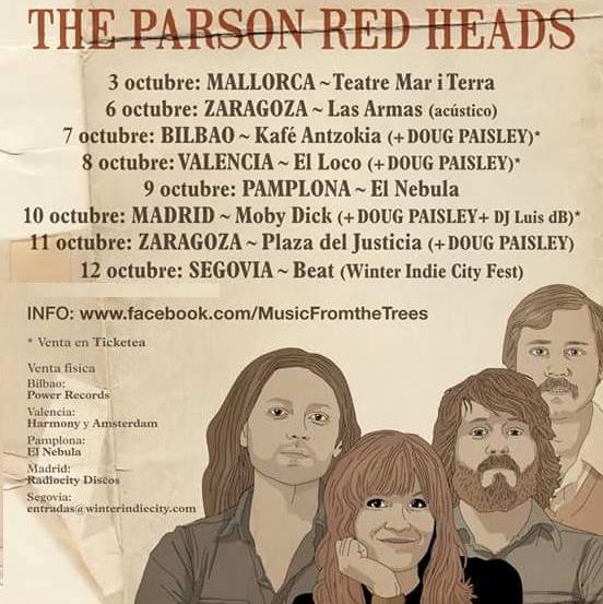 THE PARSON RED HEADS - Gira española Octubre 2015