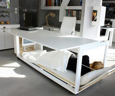 OFICINA CON ESCRITORIO CAMA Fotos de oficinas y escritorios