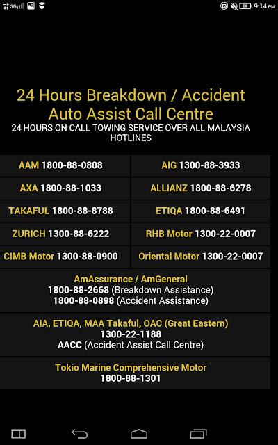 bantuan kerosakan dan kemalangan