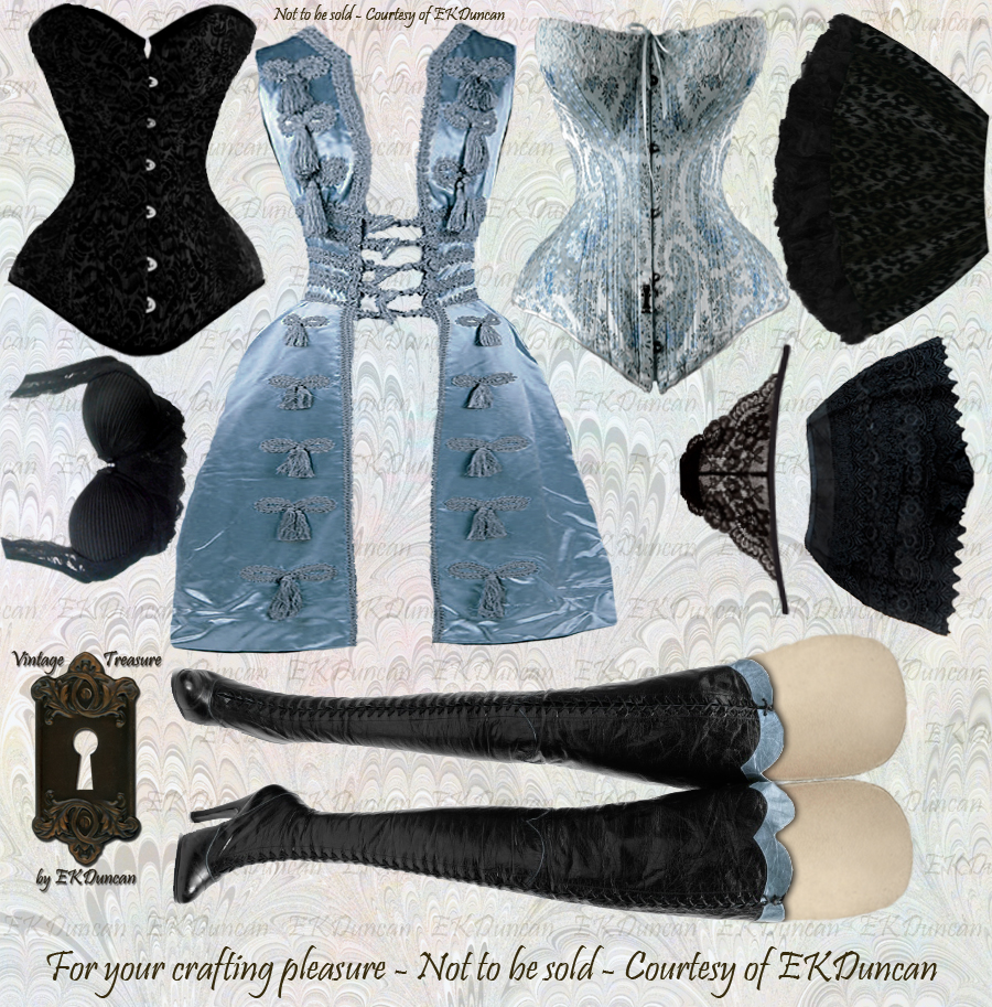 EKDuncan - My Fanciful Muse: Gothic Girls Paper Doll Dress Up for ...