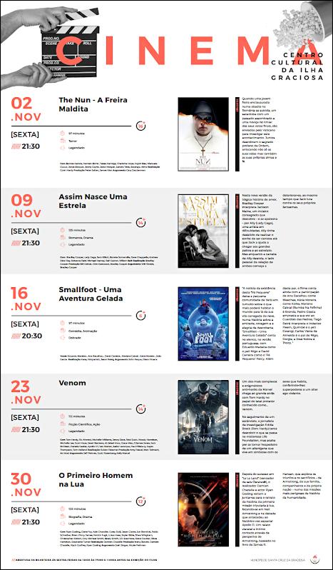 Cartaz Cinema- Novembro 2018