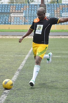 ibikunle amosun playing football